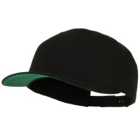 Ball Cap - Black Brushed Cotton Extra Big Size Cap
