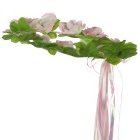Costume - Pink Green Kids Floral Head Piece