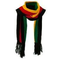 Scarf, Shawl - Black New Rasta Scarf