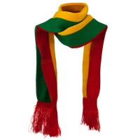 Scarf, Shawl - Red Yellow Green New Rasta Scarf