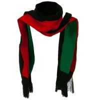 Scarf, Shawl - Green Black Red New Rasta Scarf