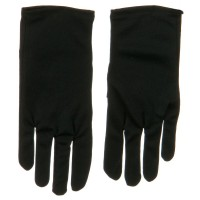 Glove - Black 8 inch Child Stretch Nylon Glove