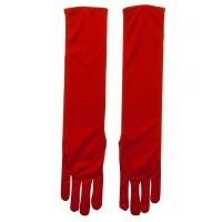 Glove - Red Adult Nylon 18 Inch Long Glove