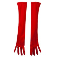 Glove - Red 18 Inch Adult Nylon Glove