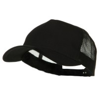 Ball Cap - Black Big Size Trucker Mesh Cap