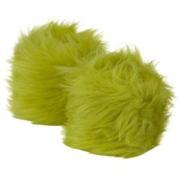 Warmer - Lime Critter Faux Fur Bracelet