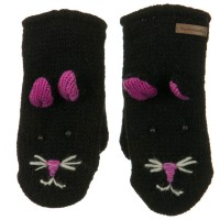 Glove - Kitty Face Child Animal Wool Mitten