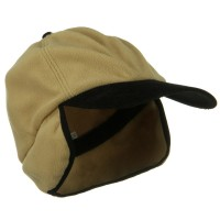 Trooper - Camel Oversize Fleece Warmer Cap