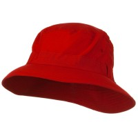 Bucket - Red Water Repellent Microfiber Golf Hat