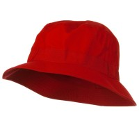 Bucket - Red Big Size Microfiber Golfer Hat
