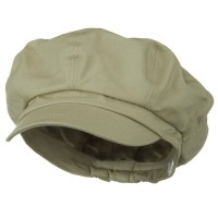 Newsboy - Khaki Big Size Cotton Newsboy Hat