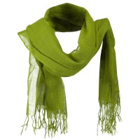 Scarf, Shawl - Lime Solid Viscose Long Scarf