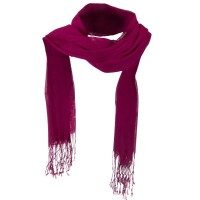 Scarf, Shawl - Fuchsia Solid Viscose Long Scarf