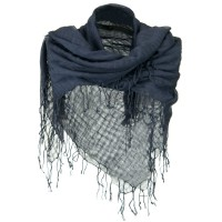Scarf, Shawl - Grey Over sized Viscose Square Scarf