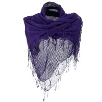 Scarf, Shawl - Purple Over sized Viscose Square Scarf