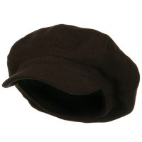 Newsboy - Brown Big Size Wool Newsboy Cap