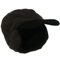 Trooper - Brown Oversize Fleece Warmer Cap
