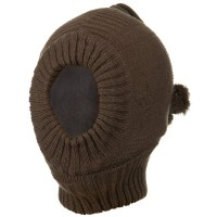 Face Mask - Brown Solid Children One Hole Ski Mask