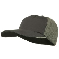Ball Cap - Charcoal Grey Big Size Summer Mesh Flexible Cap