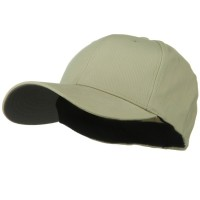 Ball Cap - Khaki Structured Brushed Big Size Cap