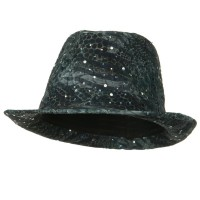 Fedora - Grey New Glitter Fedora Hat