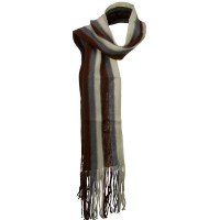 Scarf, Shawl - Brown Grey Rasta Multi Color Scarf