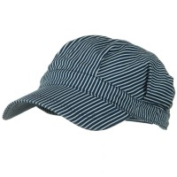 Cadet - Blue White Dark Striped Conductor's Cap