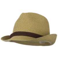 Fedora - Tan UPF 50+ Blended Braid Tie Fedora