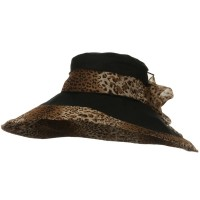 Dressy - Black Woman's Hat Cheetah 6 Inch Hat
