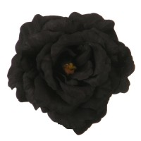 Pin , Badge - Black Rose King Size Pin , Clip