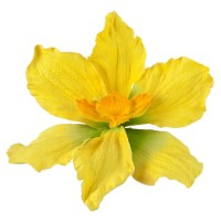 Pin , Badge - Yellow Lily Pin , Clip in Petals