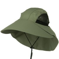 Flap Cap - Olive Large Bill Sun Flap Cap