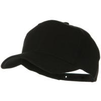 Ball Cap - Black Wool Blend Prostyle Snapback Cap