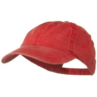 Ball Cap - Red Washed Cotton Brass Buckle Cap
