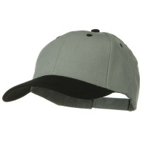 Ball Cap - Black Grey Khaki 2 Tone Brushed Bull Denim Cap