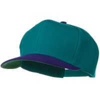 Ball Cap - Purple Jade Two Tone Wool Blend Snapback Cap