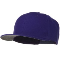Ball Cap - Purple Wool Flat Visor Snapback Cap