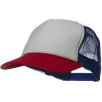 Ball Cap - Red White Royal Two Tone Polyester 5 Panel Cap