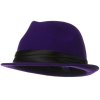 Fedora - Purple Ladies Wool Felt Fedora Hat