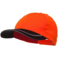 Ball Cap - Orange Black 6 Panel Poly Twill Safety Cap