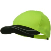 Ball Cap - Yellow Black 6 Panel Poly Twill Safety Cap
