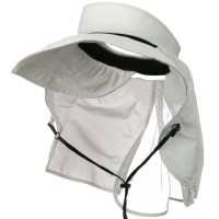 Outdoor - White UV 50+ Protection Talson Flap Visor