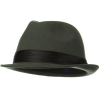 Fedora - Grey Ladies Wool Felt Fedora Hat