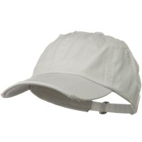 Ball Cap - White Vintage Cotton Polo Cap