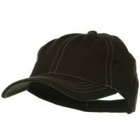 Ball Cap - Brown Khaki Contra Stitch Washed Polo Cap