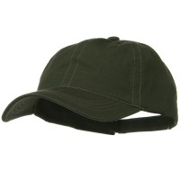 Ball Cap - Olive Khaki Contra Stitch Washed Polo Cap