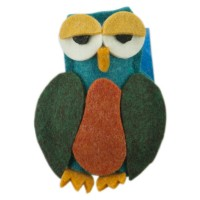 Band - Owl Animal Felt Pin , Hair Clip