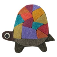 Band - Turtle Animal Felt Pin , Hair Clip