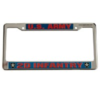Plate, Frame - 2nd Army 3D License Plate Frame
