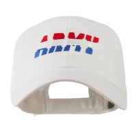 Embroidered Cap - White Three Color Army Embroidered Cap